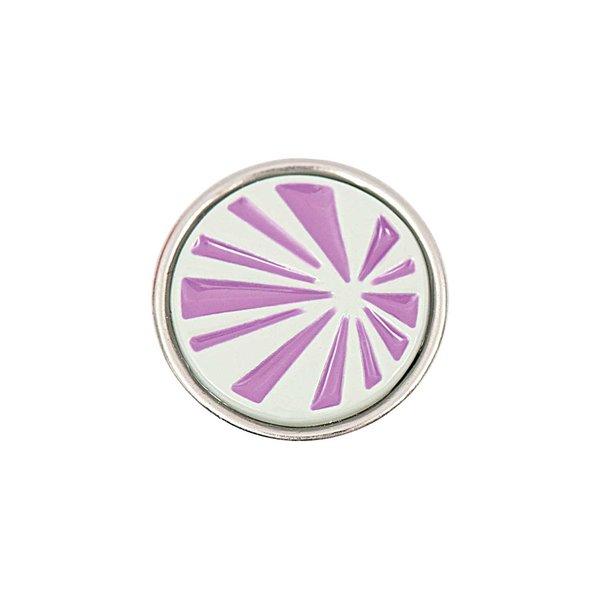 Rico Design Knopf Strahlen lila-grau 14mm