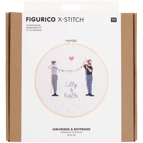 Rico Design Figurico Stickpackung Girlfriend & Boyfriend 20cm