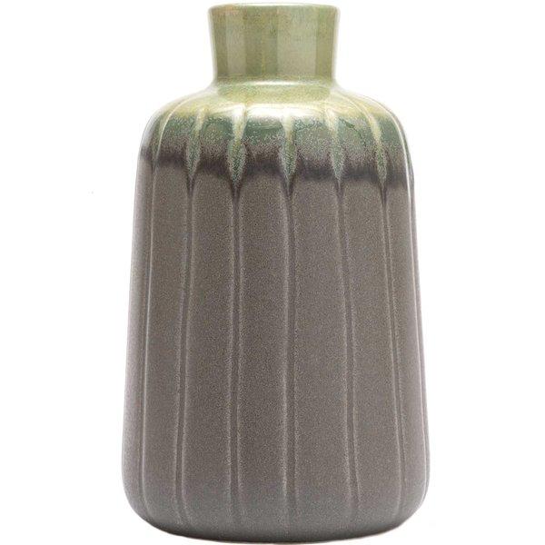 Vase aus Keramik Grüntöne 15,7x9cm