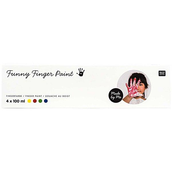 Rico Design Fingerfarbe Set 4x100ml