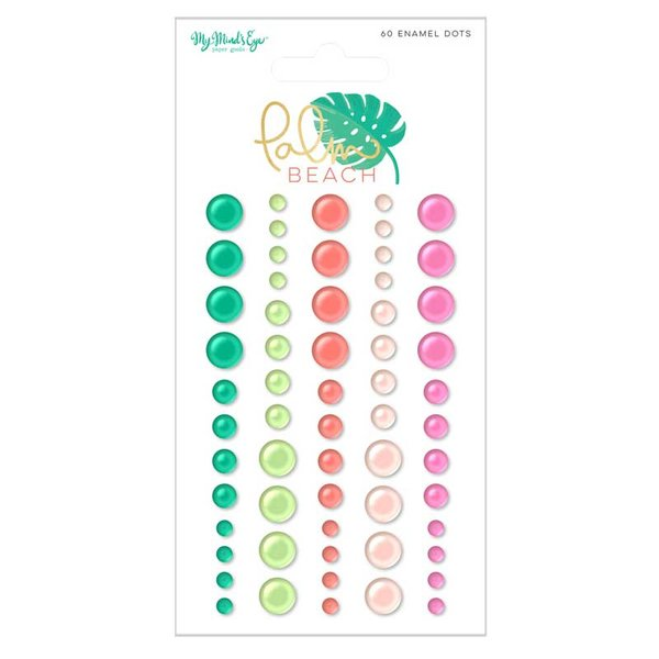 MyMindsEye Scrapbooking Enamel Dots Palm Beach 60 Stück