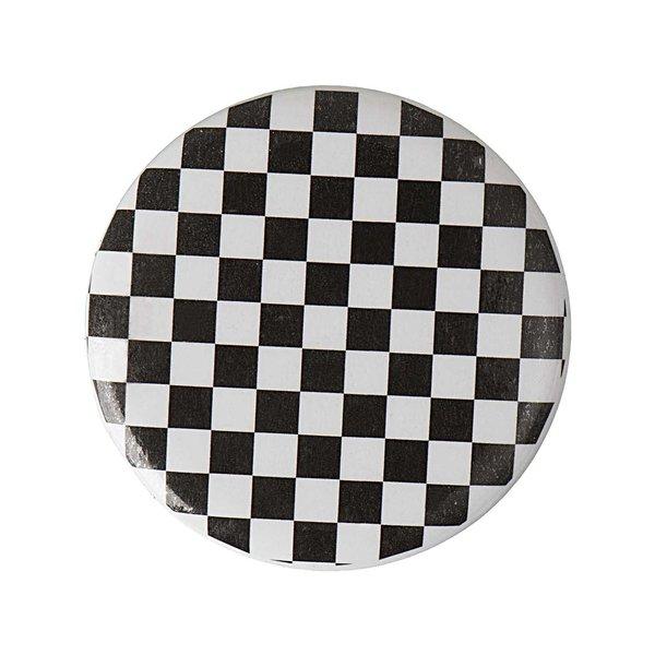 Jewellery Made by Me Button Schachbrett schwarz-weiß 25mm