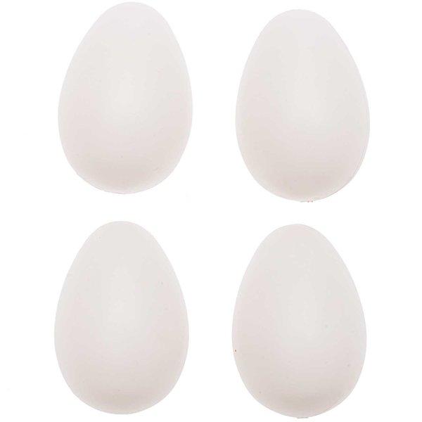 Kunststoffeier weiß 6cm 20 Stück