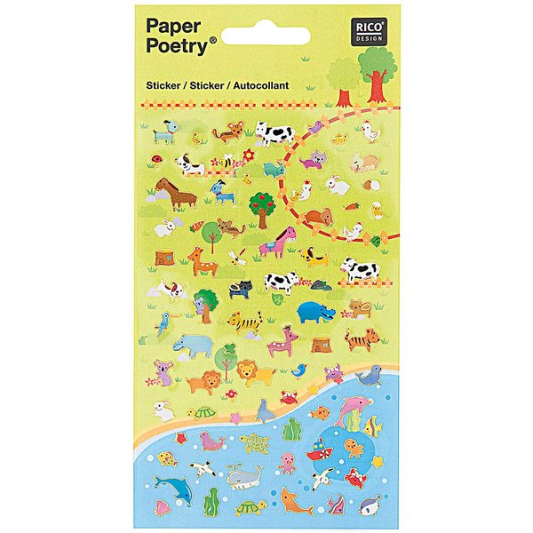 Paper Poetry Sticker Tierwiese 2