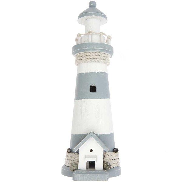 Ohhh! Lovely! Holz-Leuchtturm hellblau-weiß 16x11,5x34cm