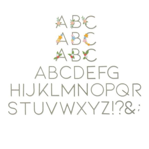 Sizzix Thinlits Die Set Decorative Type