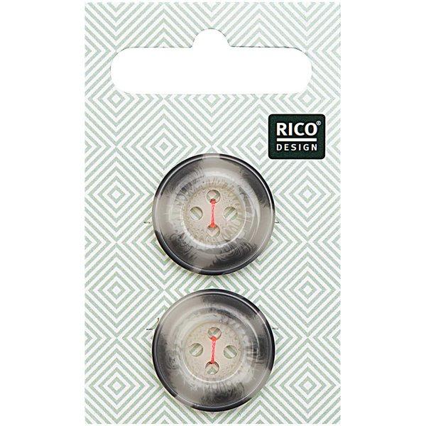 Rico Design Knopf beige-grau 2,2cm strukturiert