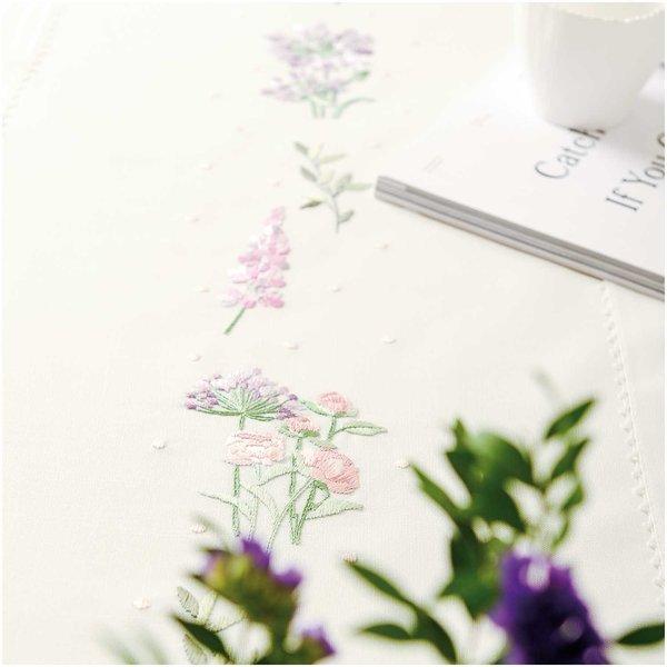 Rico Design Stickpackung Läufer Blumenkranz 40x150cm