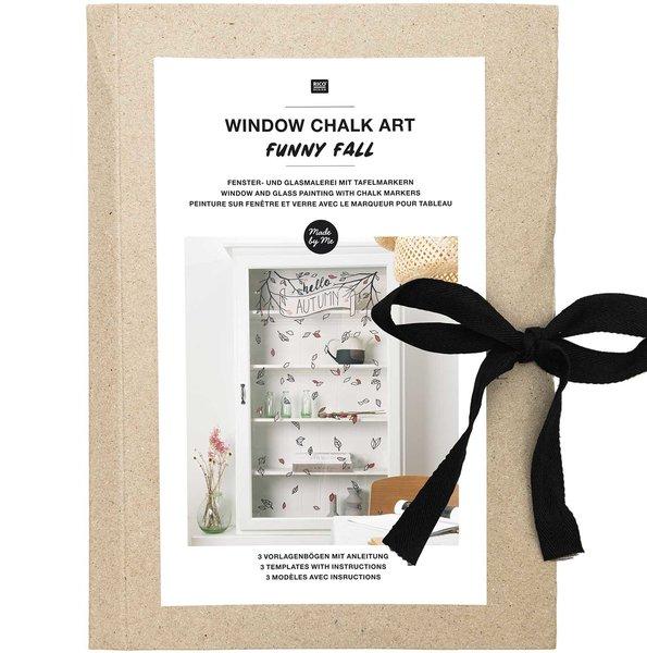 Rico Design Vorlagenmappe Fenster- und Glasmalerei mit Kreidestiften Funny Fall