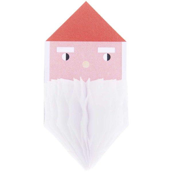 Paper Poetry Wabenpapiersticker Weihnachtsmann 1 Blatt