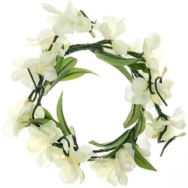 Pfirsichblütenkranz weiß 15cm