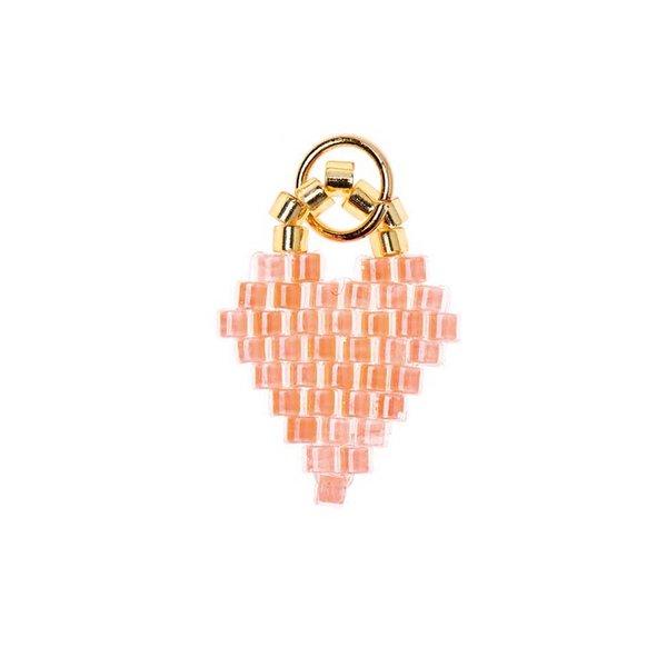 Mix it Up - Jewellery Brick Stitch Herz neon-orange 11x16mm