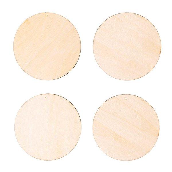 Rico Design Holzdekoanhänger-Set Kreis 4teilig