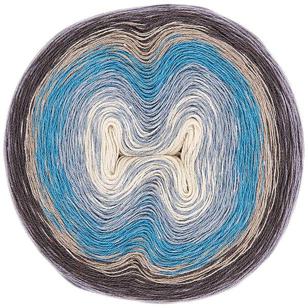 Rico Design Creative Cotton Dégradé Super6 200g 800m blau Mix