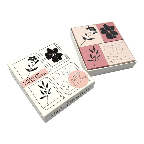 May&Berry Stempelset Floral 4 Stück