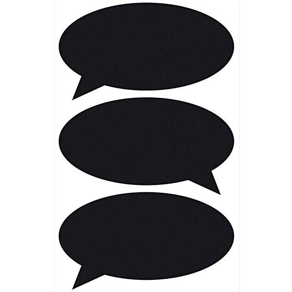 Paper Poetry Tafelfolien Sticker Sprechblase schwarz 3 Stück