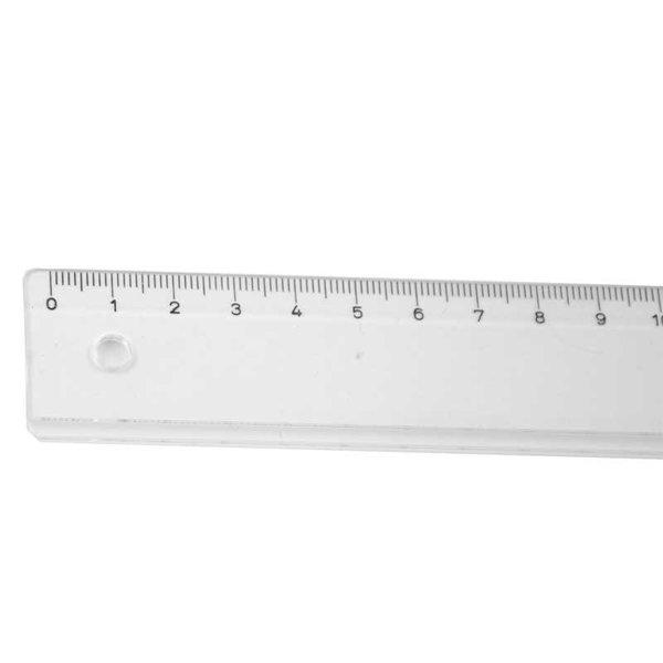 RUMOLD Schullineal transparent 30cm