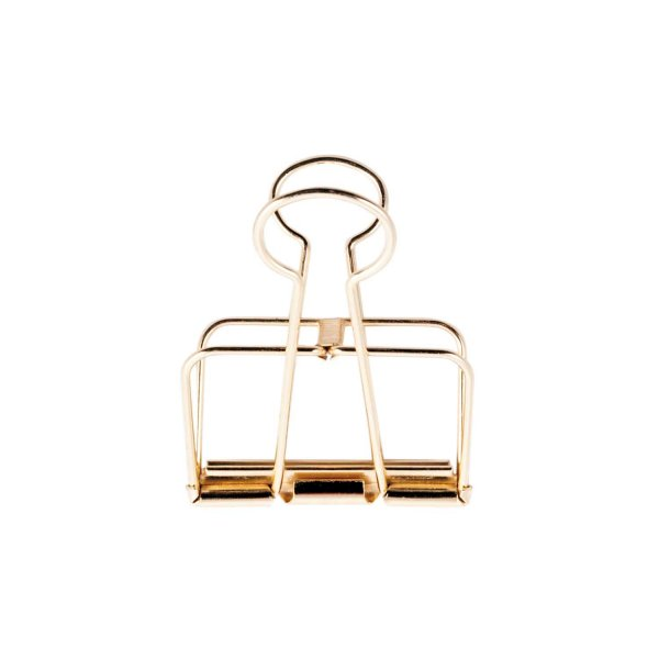 Paper Poetry Wire Clips gold 19mm 6 Stück