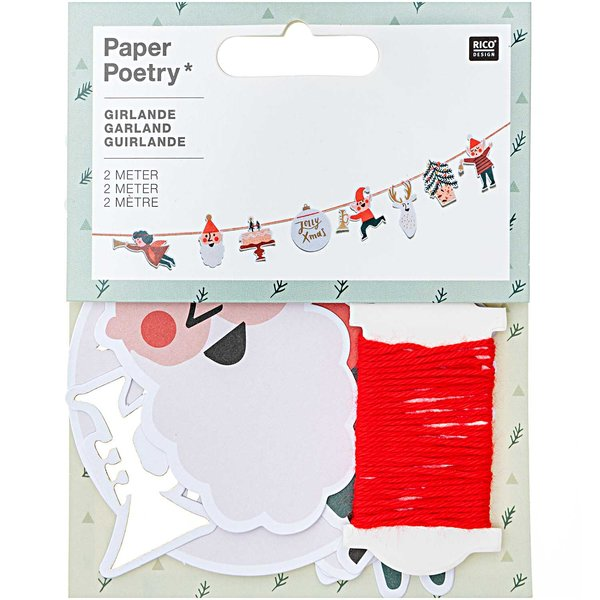 Paper Poetry Girlande Jolly Christmas Classic 2m