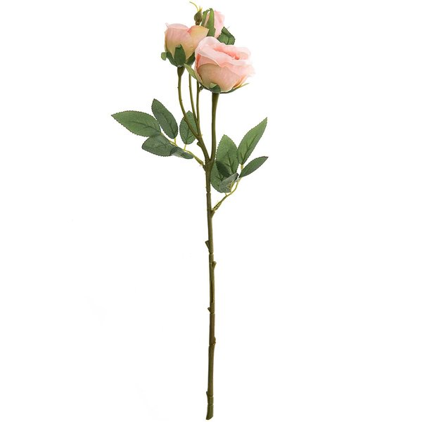 Rose mit 3 Blüten rosé 44cm