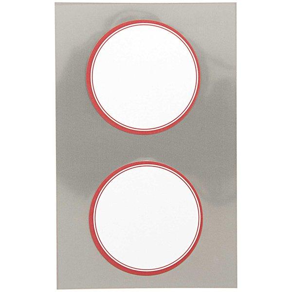 Paper Poetry Office Sticker rund mit rotem Rahmen 60mm 4 Bogen