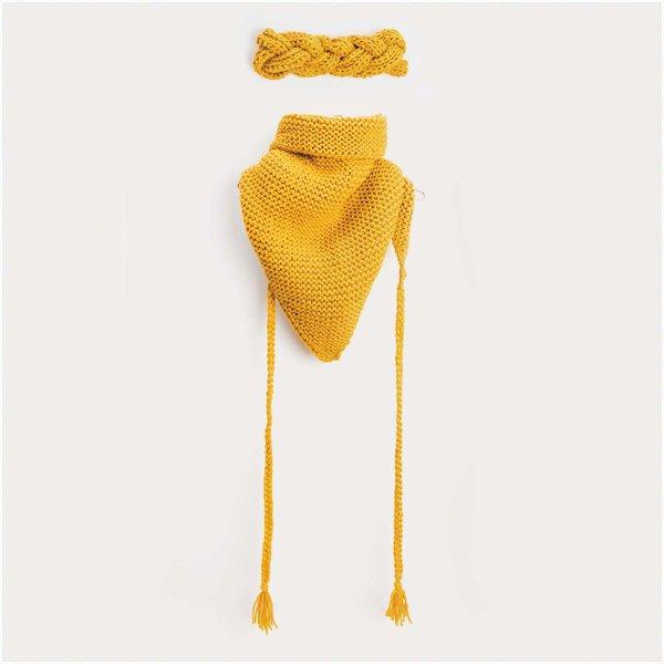 Strickset Dreieckstuch und Stirnband Modell 02 & 03 aus Mega Wool