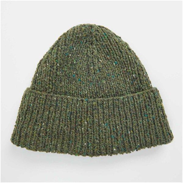 Strickset Mütze Modell 19 aus Lovewool Nr. 13 oliv Onesize