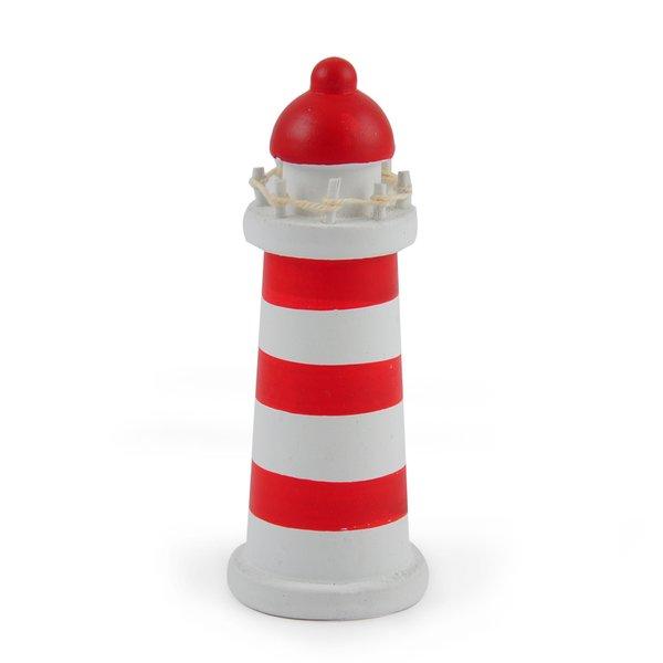 Leuchtturm rot-weiß Holz 10cm