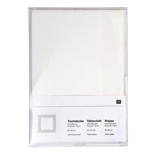 Rico Design Stickpackung Decke weiß Tupfen 90x90cm