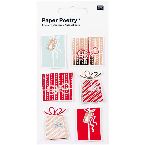 Paper Poetry 3D Sticker Geschenke Hot Foil