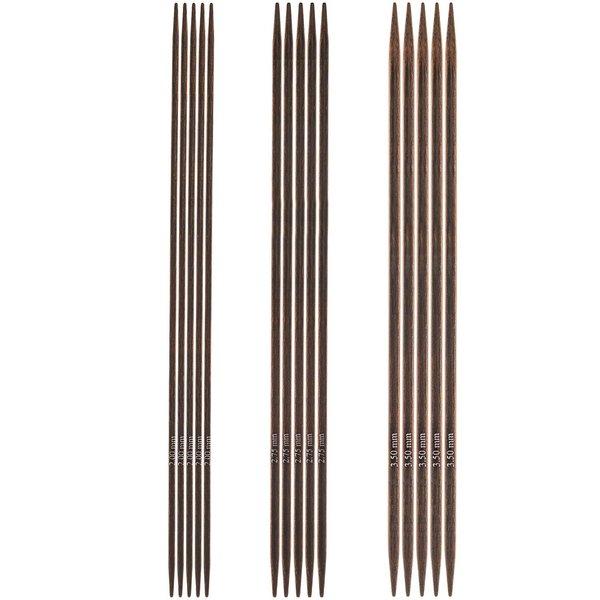 KnitPro Nadelspiel 15cm Birkenholz