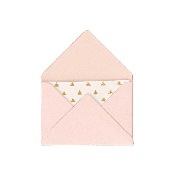 Paper Poetry Mini Briefe rosa 3x4,5cm 10 Stück