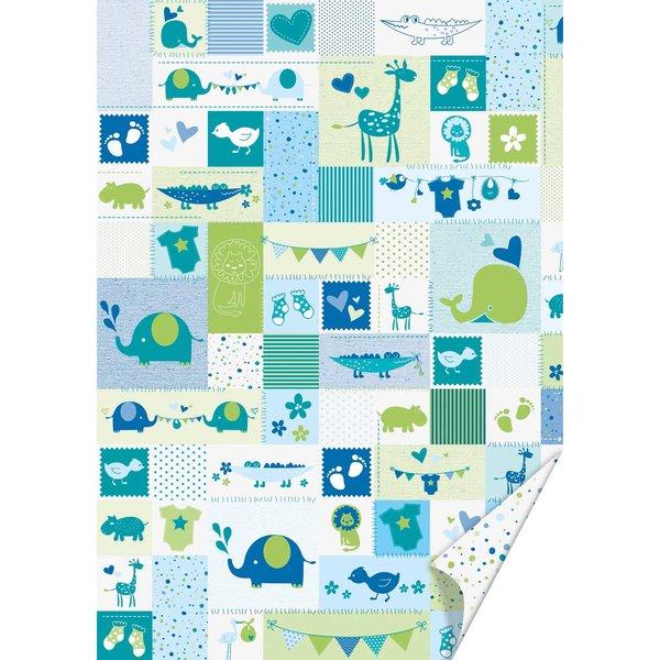 HEYDA Bastelkarton Baby blau-grün 50x70cm 300g/m²