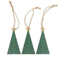 Ohhh! Lovely! Holzhänger Tannenbaum grün 40x80mm 3 Stück