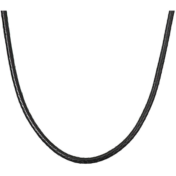 Rico Design Kette schwarz 45cm Lederoptik