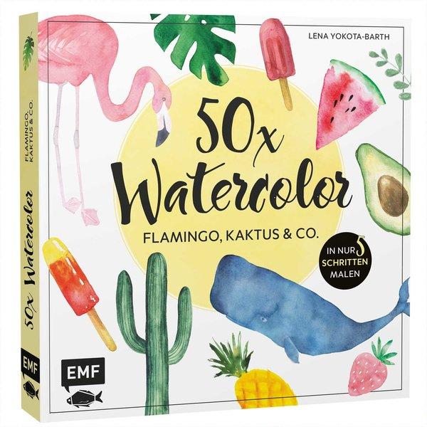 EMF 50 x Watercolor: Flamingo, Kaktus & Co.