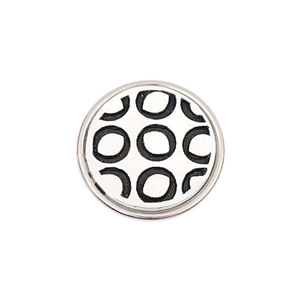 Rico Design Knopf schwarz-weiß 14mm