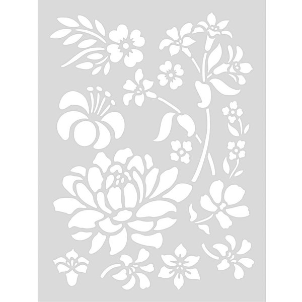 Rico Design Schablone Blume 18,5x24,5cm selbstklebend