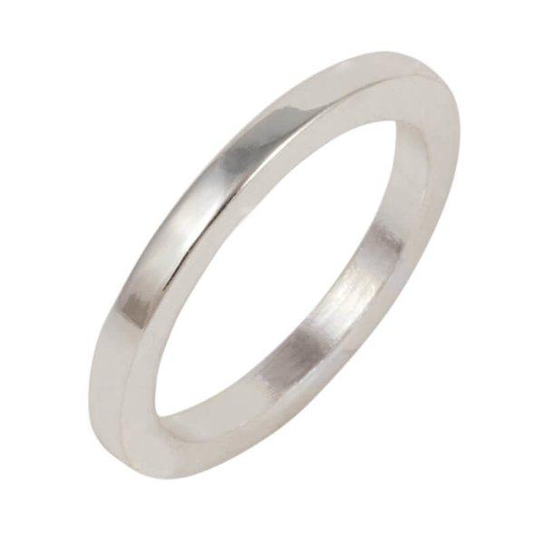 Rico Design Ring schlicht Kante eckig 16mm