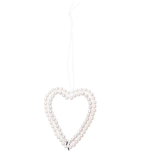 Ohhh! Lovely! Perlenhänger Herz groß perlmutt 1,5x5,8x17cm