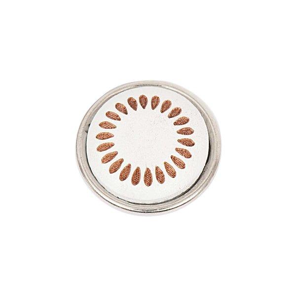 Rico Design Knopf Strahlen weiß-braun 14mm
