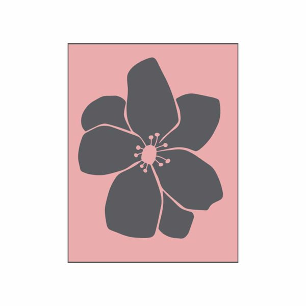 May&Berry Stempel Blüte Anemone rosa 35x45mm