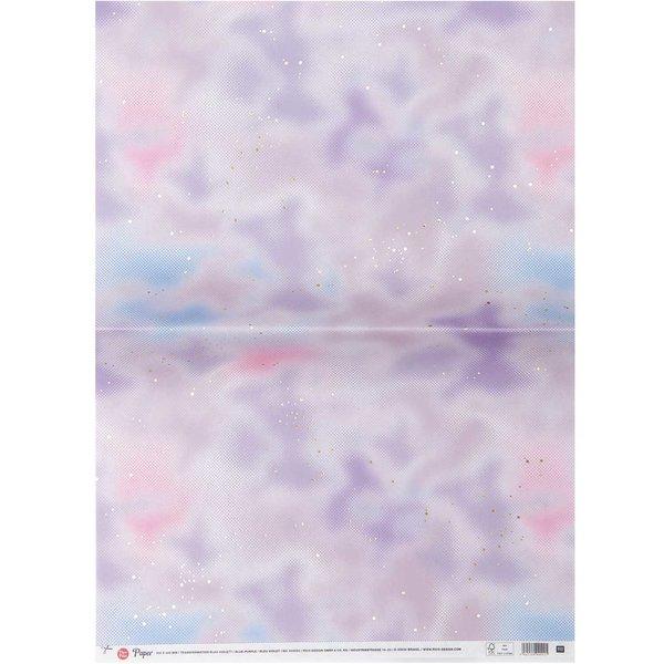 Paper Poetry Paper Patch Papier blau-violett 30x42cm