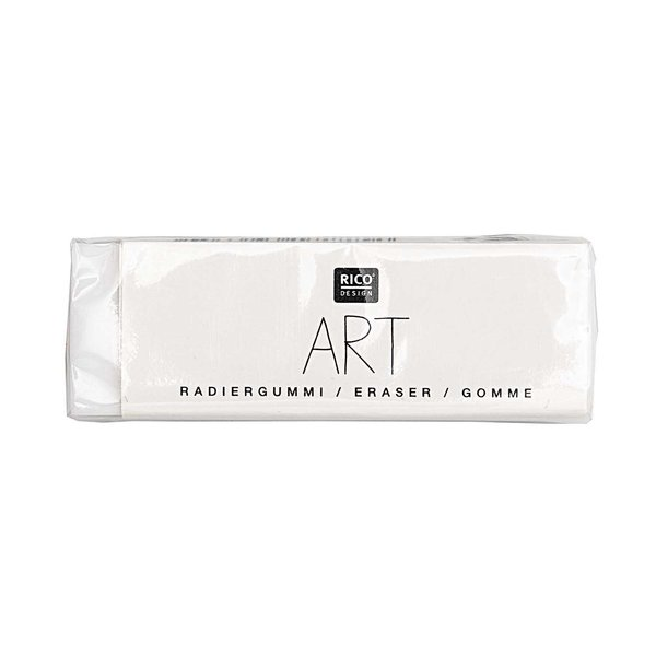 Rico Design ART Radiergummi weiß 4,5x1,5cm