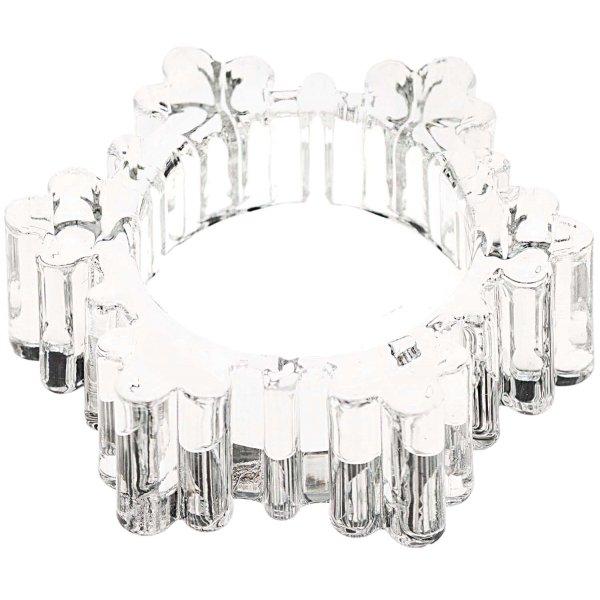 Ohhh! Lovely! Teelichthalter Schneeflocke Glas 7,3x2,2x7,3cm