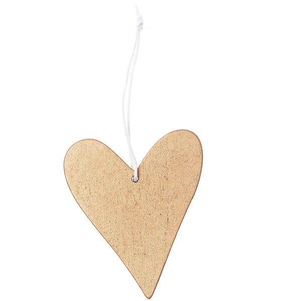 Ohhh! Lovely! Holzhänger Herz gold
