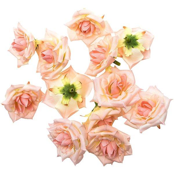Rosenköpfe rosa 5cm 12 Stück