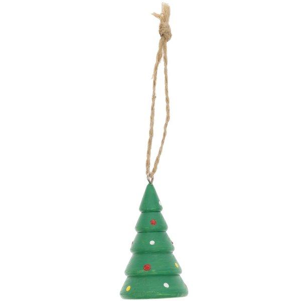 Ohhh! Lovely! Holzhänger Weihnachtsbaum grün 3,5x6cm