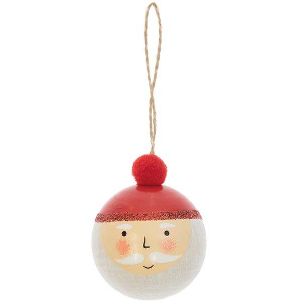 Ohhh! Lovely! Holzhänger Weihnachtsmann Kugel rot-weiß 5x6cm
