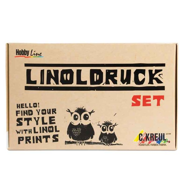 KREUL Hobby Line Linoldruck Set incl. 20ml Farbtube